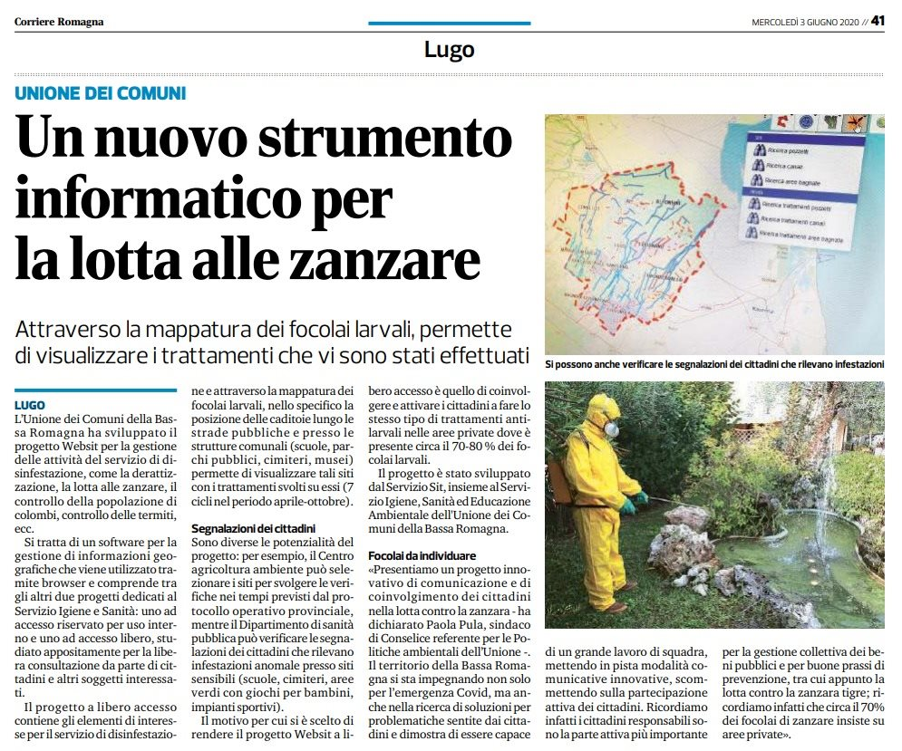 Articolo Bassa Romagna Igiene e Sanita